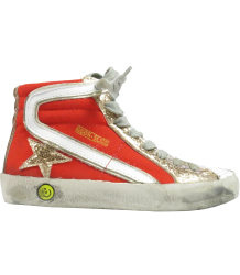 Golden Goose Slide Golden Goose Slide Orange and gold glitter