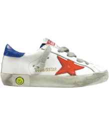 Golden Goose Superstar Golden Goose Superstar white red blue