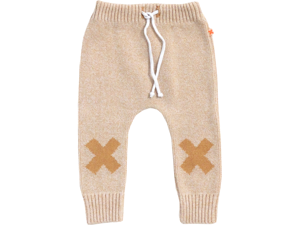Tiny Cottons Knitted Pant Logo - Orange Mayonnaise
