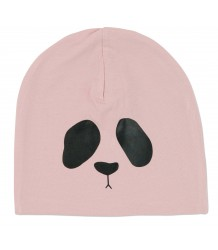 Mini Rodini 2-zijdig Panda Mutsje Mini Rodini Panda omkeerbaar mutsje roze