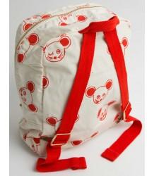 Mini Rodini Backpack MUIS aop Mini Rodini Backpack mouse red