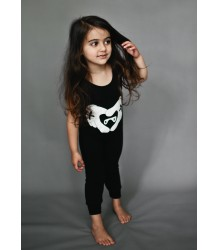 Beau LOves Sleeveless Romper Suit MASKED BEARS Beau LOves Mouwloze Baby Jumpsuit HEART HANDS