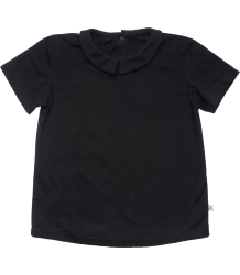 Repose AMS T-shirt with Collar Repose AMS T-shirt met Kraag zwart