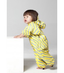 Gosoaky Lion King Regenpak Gosoaky Lion King Suit yellow and grey stripe
