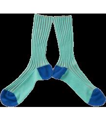 Bobo Choses Short Socks Bobo Choses Korte Rib Sokken groen