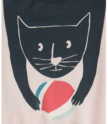 Oeuf NYC Tee Shirt Dress CAT Oeuf NYC Tee Shirt Jurkje CAT pink