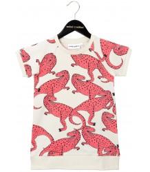 Mini Rodini Sweat jurk T-REX Mini Rodini Sweat jurk T-REX roze