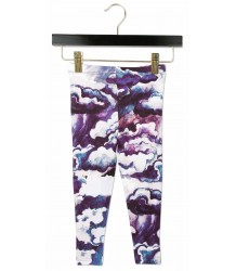 Mini Rodini CLOUDS Leggings Mini Rodini CLOUDS Leggings purple