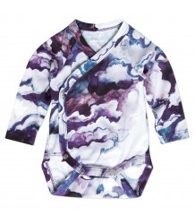 Mini Rodini Wrap Body CLOUDS Mini Rodini Wrap Body CLOUDS purple