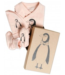 Mini Rodini Baby Kit 3 piece - Penguin Mini Rodini Baby Kit 3 piece - Penguin apricot pink