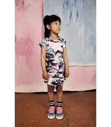 Mini Rodini Raglan Dress CLOUDS Mini Rodini Raglan Jurkje CLOUDS