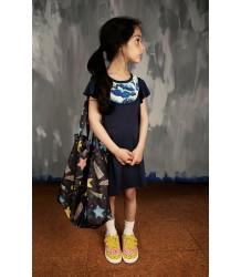 Mini Rodini Bib Dress CLOUDS Mini Rodini Slab Jurkje CLOUDS