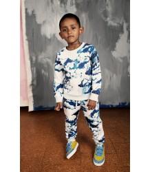 Mini Rodini Sweatpants CLOUDS Mini Rodini Sweatpants CLOUD blue