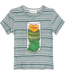 Simple Kids Stripe Tee SPINACH Simple Kids Stripe Tee SPINACH green
