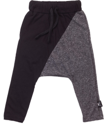 Nununu ½ & ½ Baggy Pants Nununu half & half Baggy Pants charcoal black