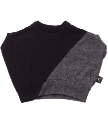 Nununu ½ & ½ Round Shirt Nununu half & half Round Shirt grey and black
