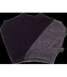 Nununu ½ & ½ Round Shirt Nununu ? & ? Round Shirt grey and black