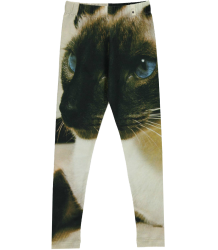 Popupshop Leggings BLACK & WHITE CAT Popupshop Leggings ZWART & WIT KAT