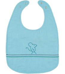 Mouse Bib Kidscase HOME Muis Slab blauw