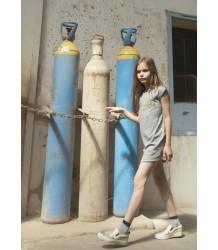 Zadig & Voltaire Kids Paolina T-shirt Dress SUNSHINE Zadig & Voltaire Kid Tee Dress SUNSHINE streep