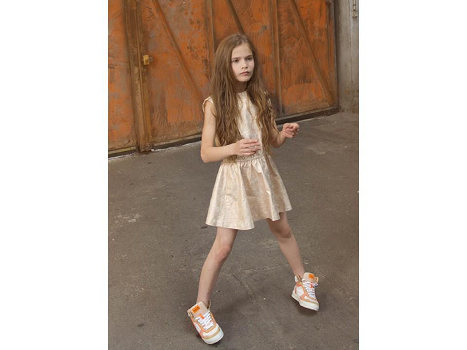 Zadig Amp Voltaire Kid Fifi Dress Copper Orange Mayonnaise