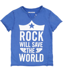 Zadig & Voltaire Kid Tee Boxer ROCK Zadig & Voltaire Kid Tee Boxer SAVE THE WORLD blue