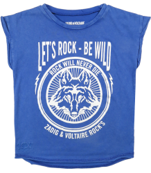 Zadig & Voltaire Kid Tee Shirt Boy BE WILD Zadig & Voltaire Kid Tee Shirt Boy BE WILD blue