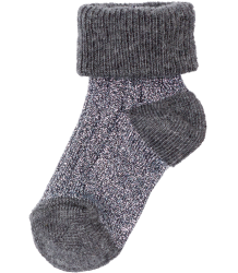 Polder Girl Train Baby Socks April Showers by Polder Train Baby Socks steel grey