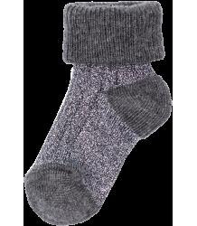Polder Girl Train Baby Socks April Showers by Polder Train Baby Socks steel grey