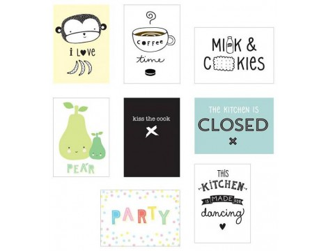 A Little Lovely Company Poster Lightbox Sheets KITCHEN