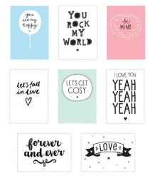Poster Lightbox Sheets LOVE A Little Lovely Company Poster Lightbox Sheets LOVE