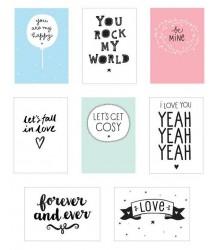 Poster Lightbox Sheets LOVE A Little Lovely Company Poster Lightbox Sheets LOVE