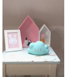 A Little Lovely Company Mini Cloud Light A Little Lovely Company Mini Wolklamp blue