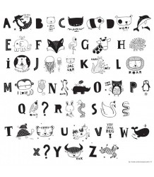 Lightbox Letter Set KIDS ABC A Little Lovely Company Lightbox Letter Set KIDS ABC black