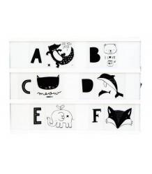 A Little Lovely Company Lightbox Letter Set KIDS ABC A Little Lovely Company Lightbox Letter Set KIDS ABC zwart