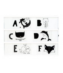 Lightbox Letter Set KIDS ABC A Little Lovely Company Lightbox Letter Set KIDS ABC zwart