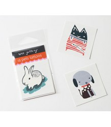 Wee Gallery Temporary Tattoos Set - Pets Wee Gallery Temporary Tattoos Set - Pets