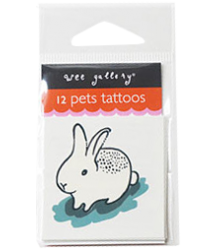 Wee Gallery Temporary Tattoos Set - Pets Wee Gallery Temporary Tattoos Set - Pets