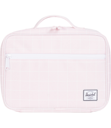 Herschel Pop Quiz Lunchbox Herschel Pop Quiz Lunchbox ballerina pink with grid