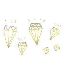 Diamonds GOLD Tattly Diamonds GOLD