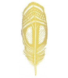 Tattly Quail Feather GOLD