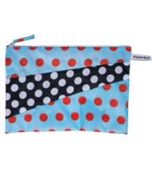 Susan Bijl The New Pouch DOTS Susan Bijl The New Pouch DOTS light blue & black