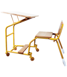 Leçons de Choses Foldable Handlebar Desk - LIMITED EDITION Lecons de Choses Inklapbaar Bureau Fietsstuur geel