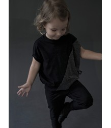 Nununu ½ & ½ Round Shirt Nununu half & half Round Shirt grey and black