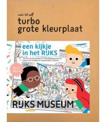 Makii Giant Colouring Picture - Rijks Museum Makii Turbo Grote Kleurplaat - Rijks museum