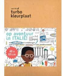 Makii Mega Colouring Picture - Italia Makii Turbo Kleurplaat - Itali