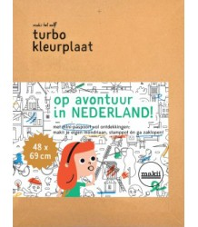 Makii Mega Colouring Picture - The Netherlands Makii Turbo Kleurplaat - Nederland