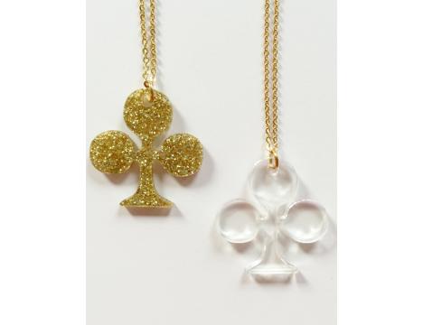 Atsuyo et Akiko Carte Clover Necklace