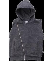 Nununu Diagonal Hooded Vest Nununu Diagonal Hooded Vest charcoal