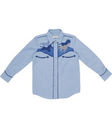 Stella McCartney Kids Dallas Shirt PATCH HORSES Stella McCartney Kids Dallas Shirt PATCH HORSES